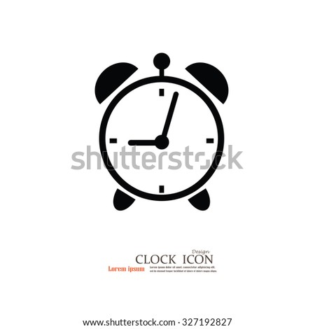 alarm clock,time and clock icon.vector illustration. - stock vector