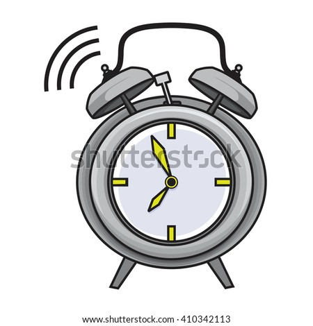 Alarm clock vector - stock vector