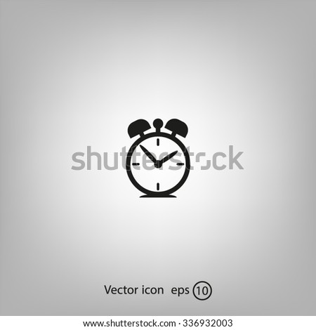 alarm clock-Vector icon - stock vector