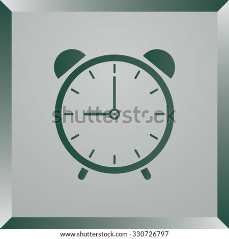 alarm clock vector icon, vector illustration. Flat design style. - stock vector