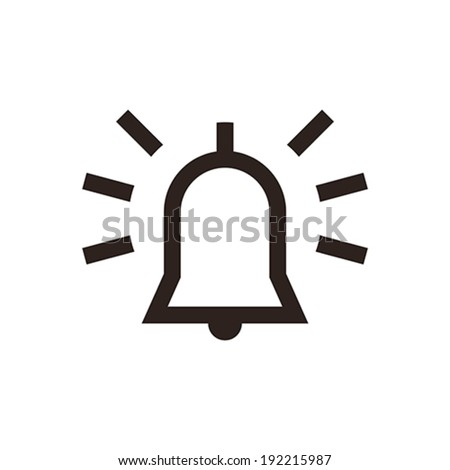 Alarm icon isolated on white background - stock vector