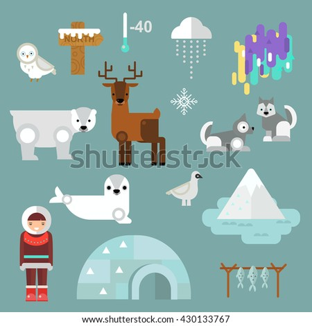 Alaska state symbols map and alaska symbols flat style. Abstract tessellation alaska symbols, modern design alaska symbols background. Vector alaska symbols america travel animal national graphic. - stock vector