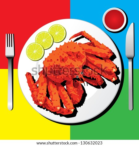 King Crab Clipart Alaskan King Crab With Fork