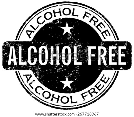 alcohol free stamp - stock vector