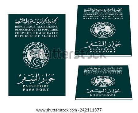 Algerian passport - stock vector