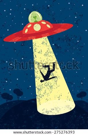 Alien Abduction  - stock vector