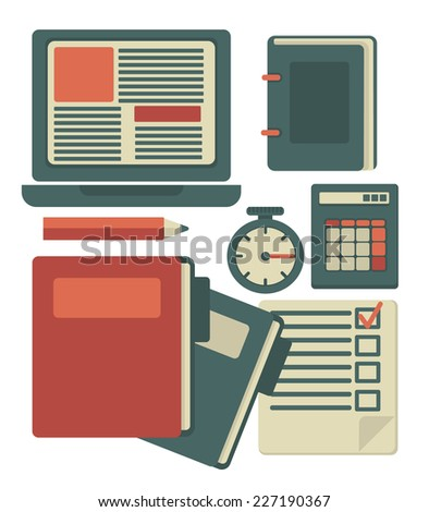 all for your business,  flat vector design elements  - stock vector