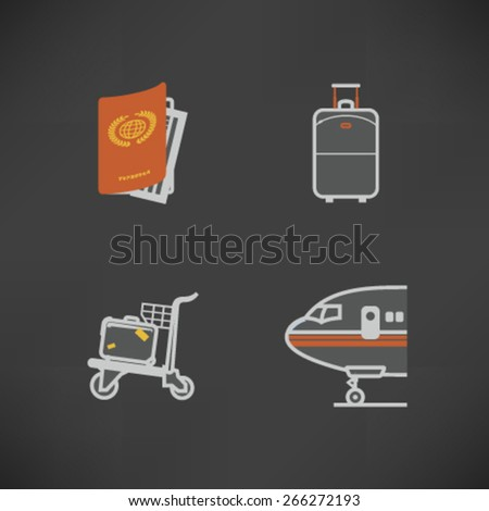 All icons in relation to summer vacation time, pictured here from left to right, top to bottom -  