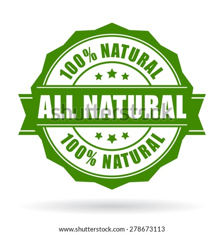 All natural vector icon - stock vector