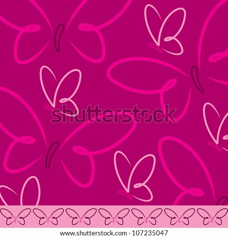 All occasion butterfly card in vector format. - stock vector