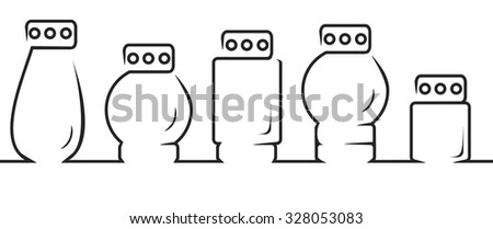 All Saints Day. 5 candles cemetery - stock vector