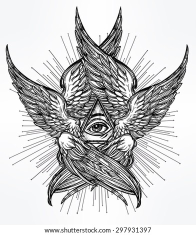 Wings Tattoo Stock Vectors & Vector Clip Art | Shutterstock