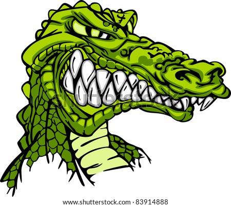 Alligator Mascot Vector Cartoon - stock vector