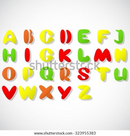 alphabet, font - stock vector
