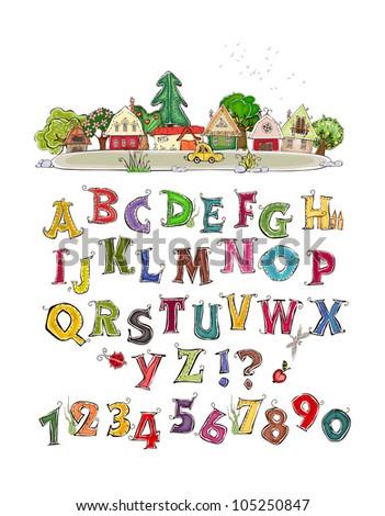 Alphabet  HAPPY WORLD COLLECTION - stock vector