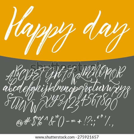 Alphabet letters: lowercase, uppercase. Vector alphabet. Hand drawn letters. Letters of the alphabet written with a paint brush - stock vector