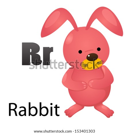 r alphabet images  Alphabet R with rabbit -