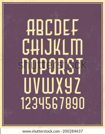Alphabet Set / Typographic Vector - stock vector