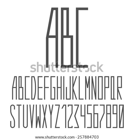 alphabet.vector illustration. - stock vector