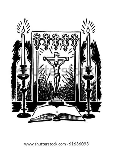 Altar - Retro Clip Art - stock vector
