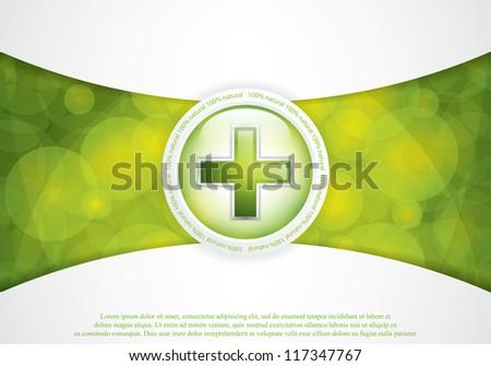 Alternative medication concept - medical cross vector - stock vector
