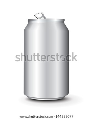Aluminum Cans Template - stock vector