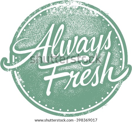 Always Fresh Food Product Stamp - stock vector