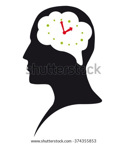 Always on time - stock vector