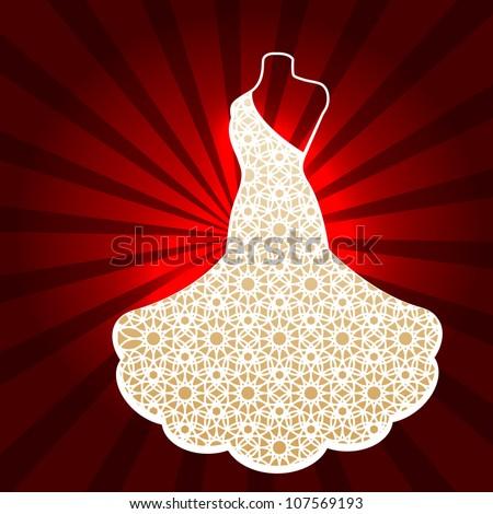 Amazing dress (background esp10) - stock vector