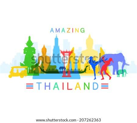 Amazing Thailand - stock vector