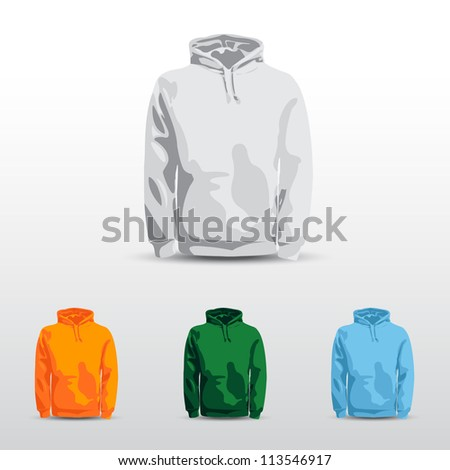 Amazing vector set. Men's shirt, t-shirt and sweatshirt (long sleeve) design template. - stock vector