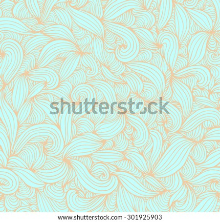 Amazing wonderland doodle art. Vector. Creative bohemia concept for tattoo, wedding invitations, cards, tickets, congratulations, branding, label. Poster, banner, template. Blue turquoise, gold beige - stock vector