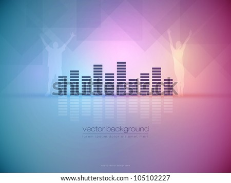 Ambient Party Vector Background - EPS10 Design - stock vector
