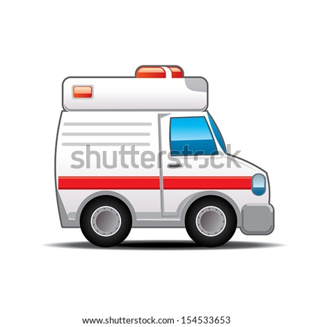 Ambulance cartoon - Illustration - stock vector