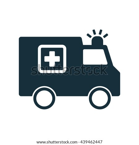 ambulance medical van icon  on white background - stock vector
