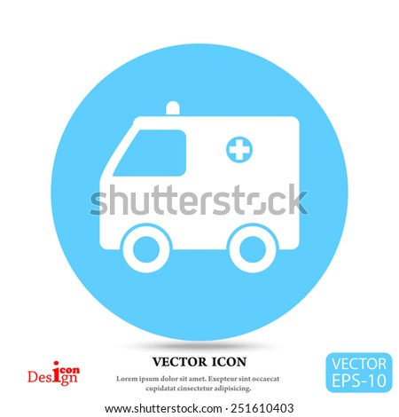 ambulance vector icon - stock vector