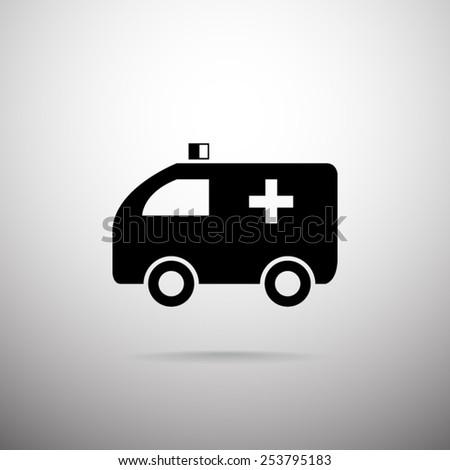 Ambulance vector icon - stock vector