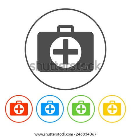 ambulanse icon - Vector icon. Flat illustrator Eps - stock vector