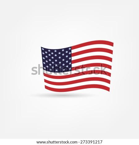 America flag icon - stock vector