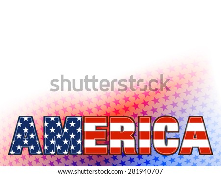 AMERICA Stars Background - stock vector