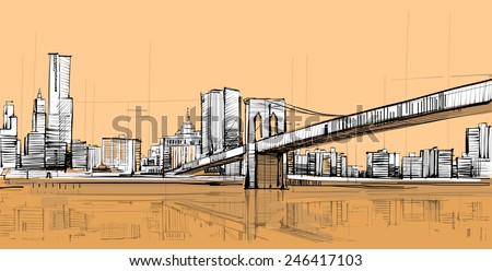American Bridge - stock vector