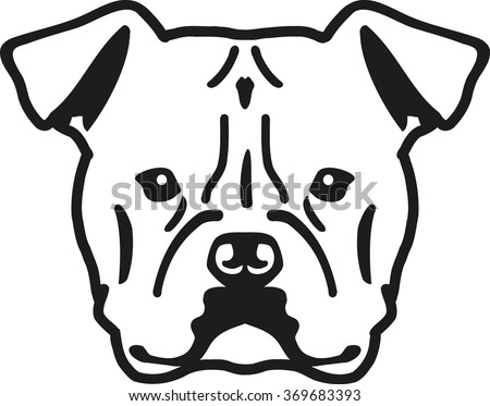 American bulldog vector - photo#8