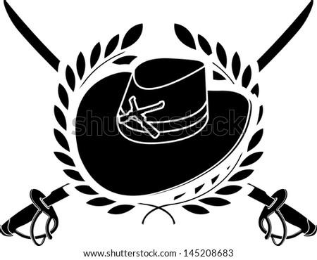 american cavalry. stencil. second variant. vector illustration - stock vector