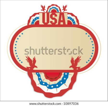 American decoration frame - with space for your text. To see similar, please VISIT MY GALLERY. - stock vector