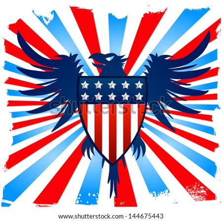 American Eagle background - stock vector