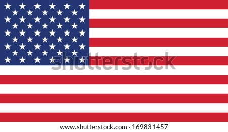 American Flag - stock vector