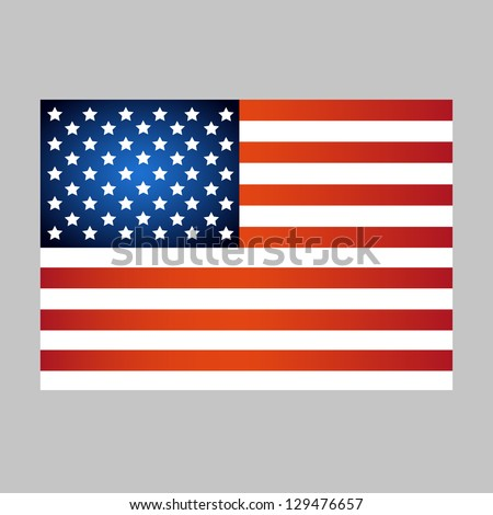 American Flag And Independence Day Isolated On Gray Background - Vector Illustration, Graphic Design Useful For Your Design - stock vector