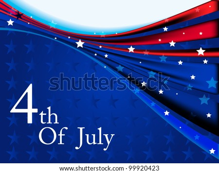 American flag background colors with stars and stripes symbolizing and space for your text for 4th July Independence Day and other events. - stock vector