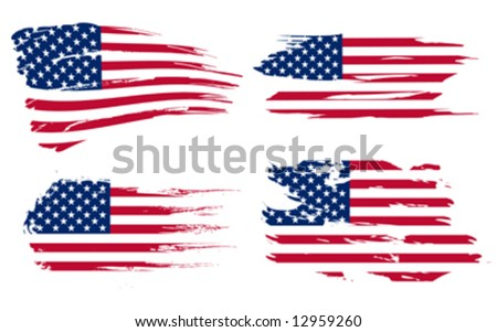 American flag background fully editable vector illustration, can be scaled to any size without quality loss - stock vector