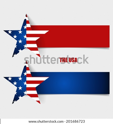 American Flag, Flags concept design. Vector illustration. - stock vector